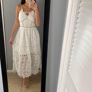 White lace a line dress
